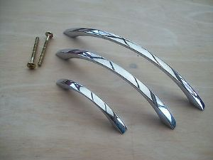 Polished chrome Rainbow Bow Arched Kitchen Door Cupboard Cabinet Drawer Handles